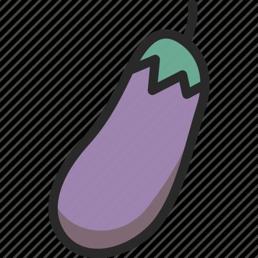 aubergine, brinjal, eggplant, purple, vegetable icon