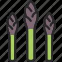 asparagus, sparrowgrass, vegetable icon