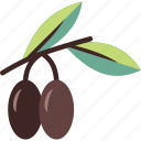 branch, fruit, olive, olives icon