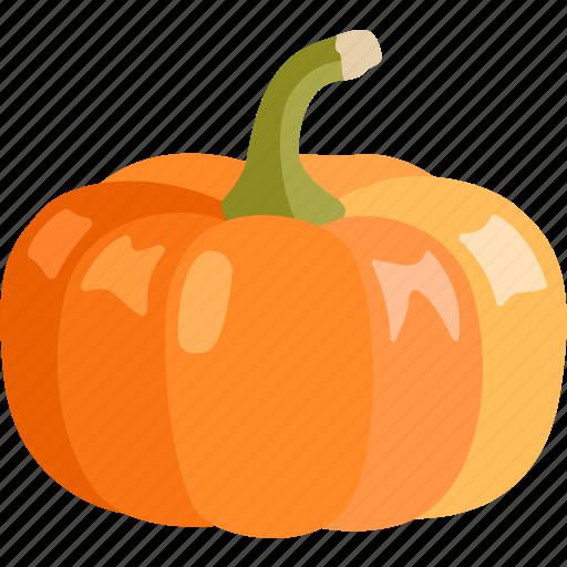 halloween, orange, pumpkin, squash, vegetable, winter icon