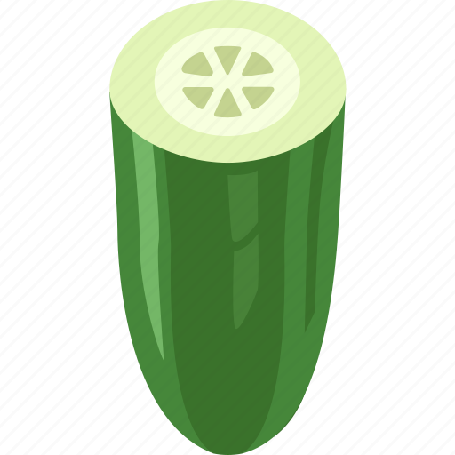 cucumber, cucumiform, pickling, seedless, slicing, vegetable icon