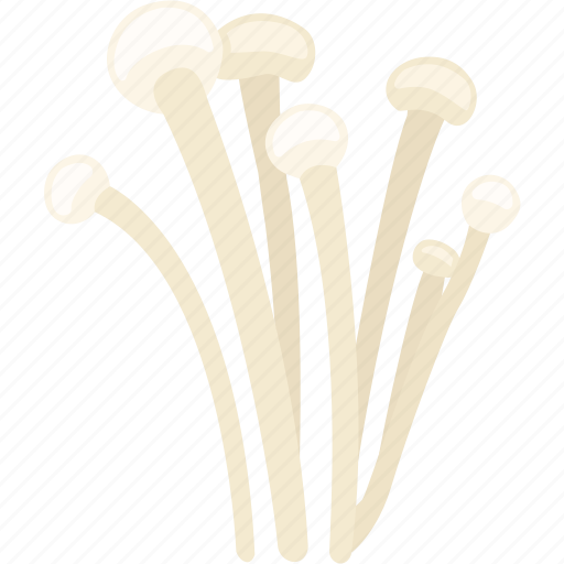 enoki, enokitake, golden needle, lily, mushroom, winter icon