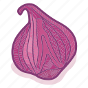 food, garlic, onion, organic, vegan, vegetable, vegetarian icon