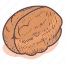 fruit, healthy, nut, seed, vegan, walnut icon