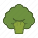 broccoli, salad, vegetable icon