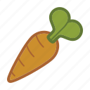 bunny, carrot, salad, vegetable icon
