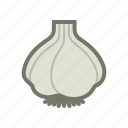 garlic, vampire, vegetable icon