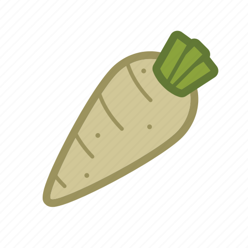 carrot, parsnip, salad, vegetable icon