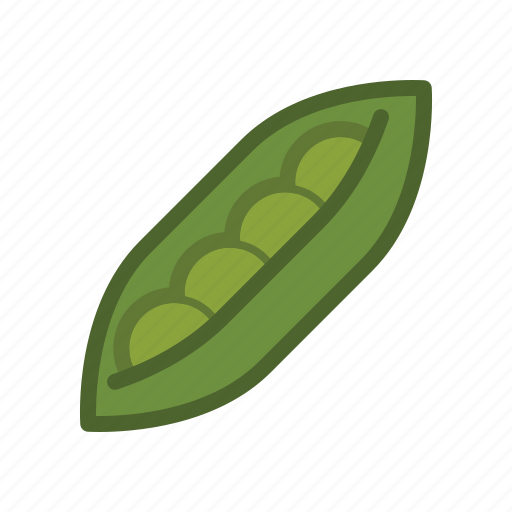 bean, pea, peas, pod, salad, vegetable icon