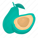 avocado, cooking, food, kitchen, meal, plant, vegetable icon