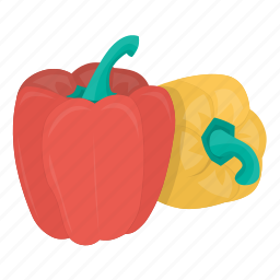 cooking, food, kitchen, meal, pepper, plant, vegetable icon