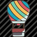 balloon, air, hot, flight, journey