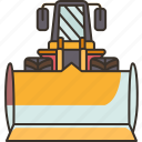 bulldozer, excavator, industrial, construction, machinery