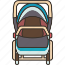 carriage, cart, baby, stroller, transport