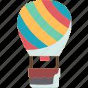 balloon, air, hot, flight, journey icon