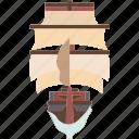 caravel, ship, vessel, nautical, pirate