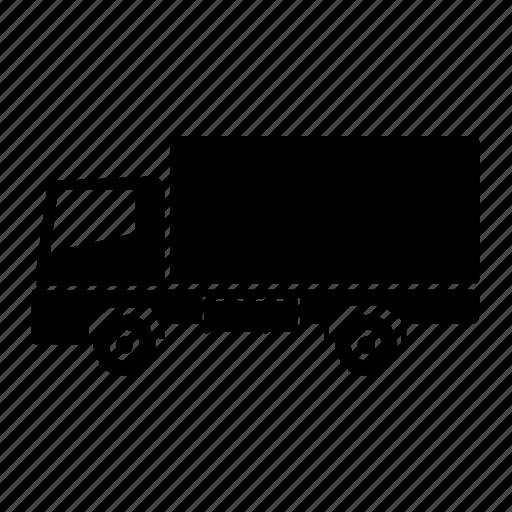 goods vehicle, luggage, transport, truck, van, vehicle, wagon icon