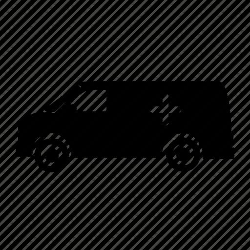 ambulance, goods vehicle, luggage, tempo, transport, truck, vehicle icon