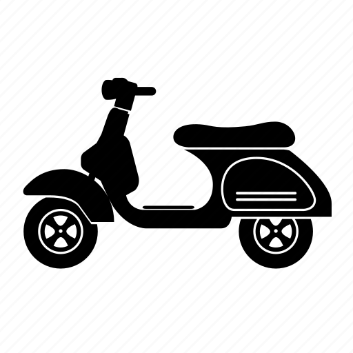automotive, bike, motor scooter, scooter, transport, vespa icon