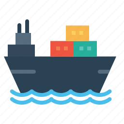 delivery, goods, sailing, ship, transport, vehicle, vessel icon