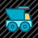car, dump, transportation, truck, van, vehicle
