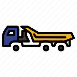caravan, carrige, goods, heavy, transportation, truck, vehicle icon