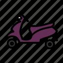 bike, moped, pedal, pleasure, twowheeler, vehicle icon