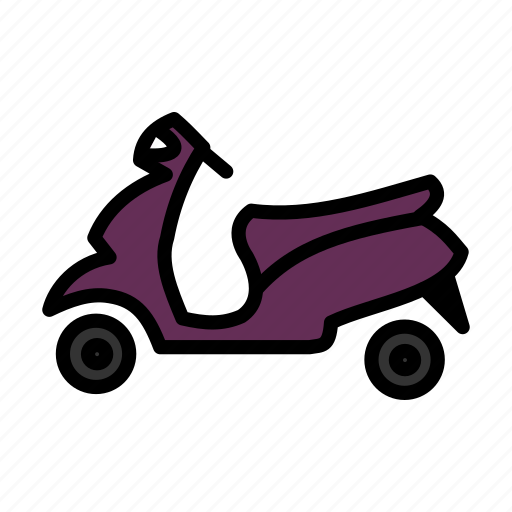 bike, moped, pedal, pleasure, twowheeler, vehicle icon