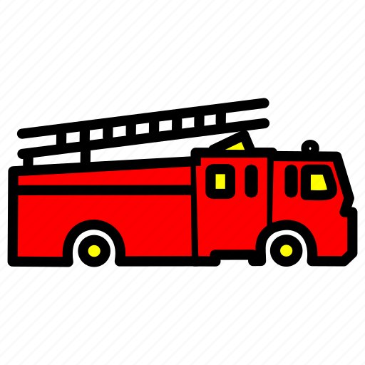 caravan, carrige, firevan, goods, heavy, traffic, vehicle icon