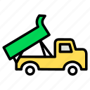 carrige, cart, garbage, heavy, transportation, truck, vehicle icon
