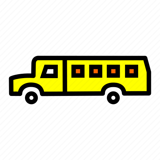 bus, carrige, goods, heavy, traffic, transportation, vehicle icon