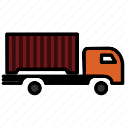caravan, carrige, goods, heavy, traffic, transportation, vehicle icon