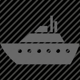 large, nautical, sailing, sea, ship, shipping, water icon