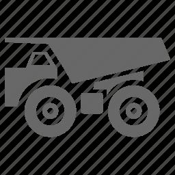 dump, logistics, mining, shipment, transportation, truck icon