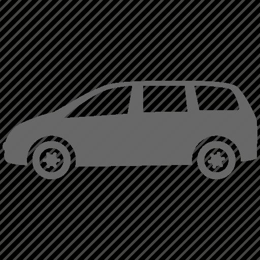 automobile, car, minivan, transport, vehicle icon