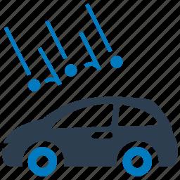 auto insurance, car insurance, damage, hail, vehicle icon