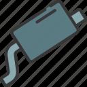 muffler, parts, transport, exhaust, car