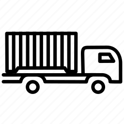 goods, heavy, trade, traffic, transportation, truck, vehicle icon