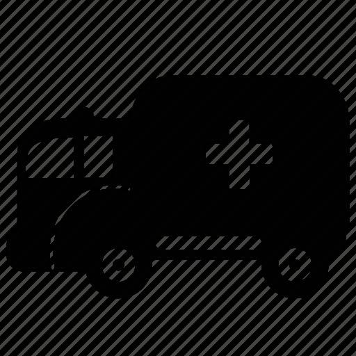ambulance, car, delivery, transportation, travel, vehicle icon