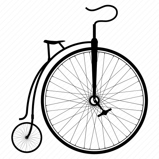 bicycle, bike, bikes, old bike, penny-farthing, penny-farthing bike, wheel icon