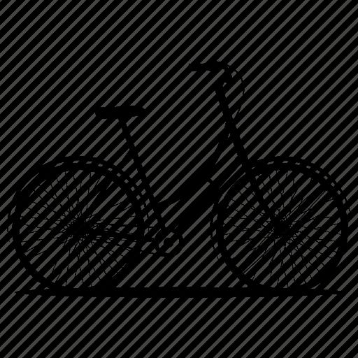 bicycle, bikes, woman bicycle, woman bike, women's bike icon