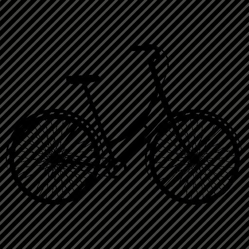bicycle, bikes, women bicycle, women's bike, women's bikes icon