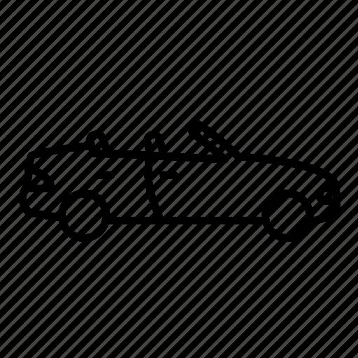 auto, car, convertible, transport, vehicle icon
