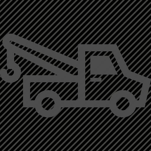 car, drag, fix, towing, transportation, van, vehicle icon