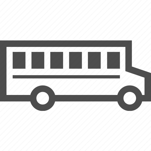 bus, car, delivery, school, student, vehicle icon
