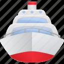 cruise ship, ocean liner, ship, transport, transportation, vehicle icon