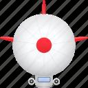 airship, blimp, transport, transportation, vehicle icon