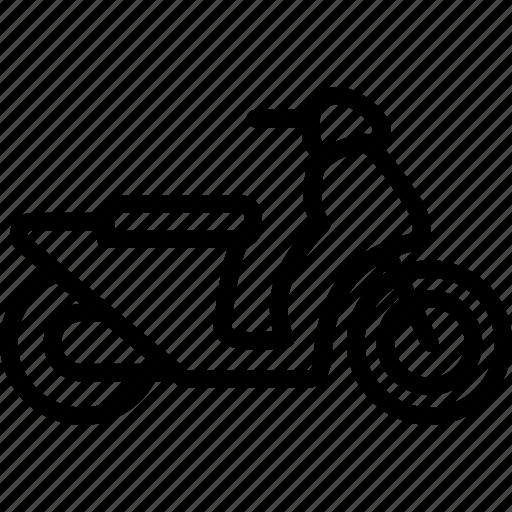 motorbike, motorcycle, scooter, vehicle, vespa icon