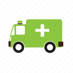 ambulance, car, emergency, four-wheeler, vehicle icon