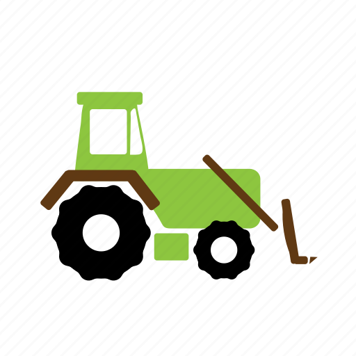 bulldozer, construction, earth mover, vehicle icon